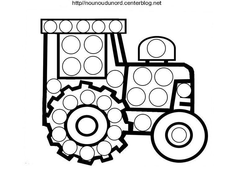 Coloriage vehicule transport - Dessin a imprimer de tracteur ...
